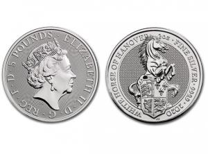 2020英國漢諾威白馬銀幣2盎司