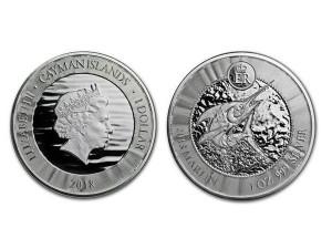 2017開曼群島馬林魚銀幣1盎司