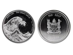 2017斐濟北齋神奈川沖浪銀幣1盎司
