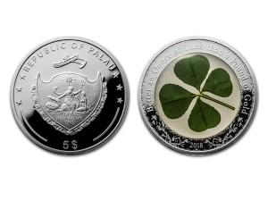2018帛琉四葉草精鑄銀幣1盎司