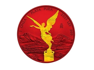 2021墨西哥火紅獨立天使銀幣1盎司