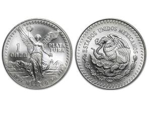 1991墨西哥獨立天使銀幣1盎司
