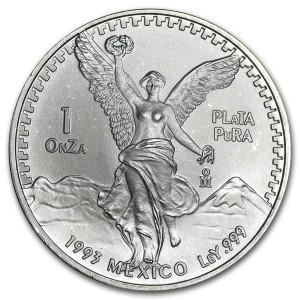 1993墨西哥獨立天使銀幣1盎司