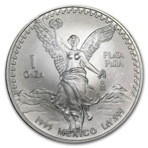 1995墨西哥獨立天使銀幣1盎司