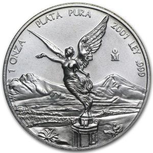 2001墨西哥獨立天使銀幣1盎司
