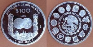 1992墨西哥新舊世界會面珍藏幣