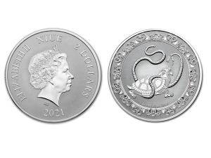2021紐埃神獸玄武銀幣1盎司