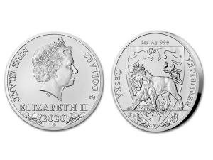 2020紐埃 - 捷克獅子銀幣1盎司