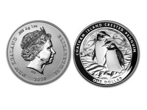 2020紐西蘭長冠企鵝銀幣1盎司