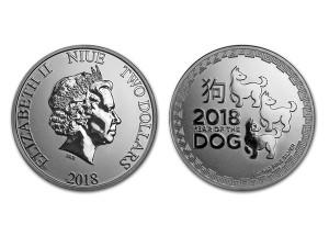 2018紐西蘭生肖狗年銀幣1盎司
