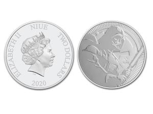 2020紐埃星際大戰黑武士銀幣1盎司
