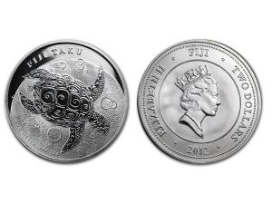 2012紐西蘭玳瑁海龜銀幣1盎司