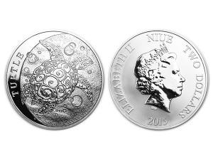 2015紐西蘭玳瑁海龜銀幣1盎司