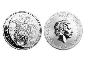 2016紐西蘭玳瑁海龜銀幣1盎司
