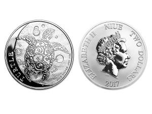 2017紐西蘭玳瑁海龜銀幣1盎司
