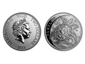 2018紐西蘭玳瑁海龜銀幣1盎司