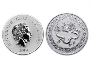 2019紐埃神獸青龍銀幣1盎司