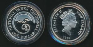 1987紐西蘭國家公園百年珍藏幣