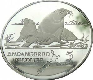 1993紐西蘭胡氏海獅珍藏幣