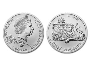 2017紐埃 - 捷克獅子銀幣1盎司
