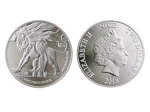 2018紐埃咆哮獅子銀幣1盎司