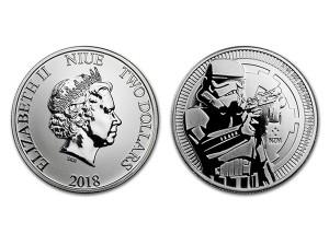 2018星際大戰帝國風暴兵銀幣1盎司