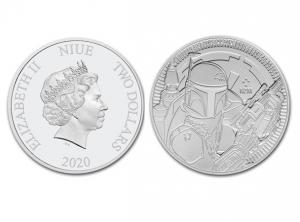 2020紐埃星際大戰巴波費特銀幣1盎司