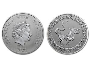 2020紐埃神獸螣蛇銀幣1盎司