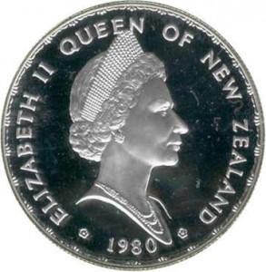 1980紐西蘭扇尾鳥1元銀幣