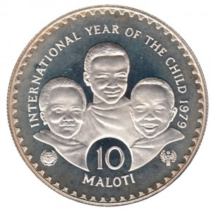 1979賴索托國際兒童年珍藏幣