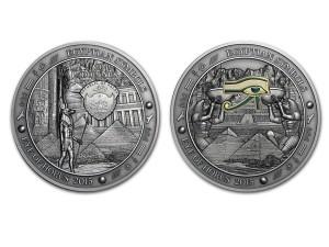 2015帛琉埃及符號-荷魯斯之眼銀幣3盎司