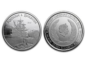 2018安提瓜和巴布達銀幣1盎司