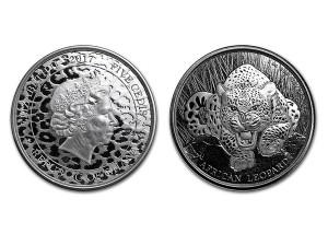 2017迦納非洲豹銀幣1盎司