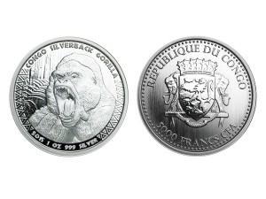 2015Scottsdale大猩猩銀幣1盎司