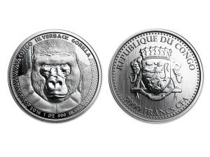 2016Scottsdale大猩猩銀幣1盎司