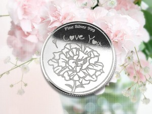 母親節感恩銀幣 3.5錢 (康乃馨花)