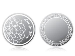 母親節感恩銀幣1盎司 (讚頌母愛)