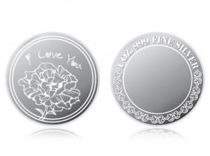 母親節感恩銀幣1盎司 (康乃馨花)