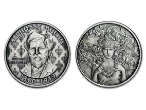 慕夏仿古銀幣1盎司(ROSE)
