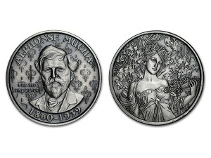 慕夏仿古銀幣1盎司(CHAMPAGNE WHITE STAR)