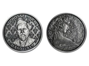 慕夏仿古銀幣1盎司(IVY)