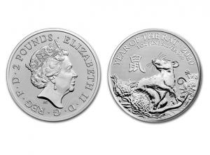 2020英國生肖鼠年銀幣1盎司