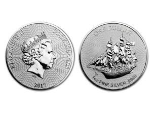 2017庫克群島1盎司銀幣(V2)