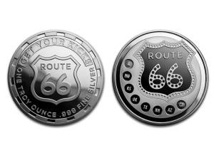 美國在66號公路上找樂子銀幣1盎司