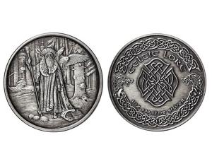 凱特爾仿古銀章5盎司-巫師梅林Merlin
