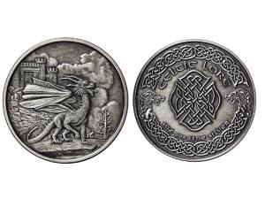 凱特爾仿古銀章5盎司-威爾斯紅龍Welsh Red Dragon