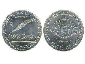 1987美國制憲兩百周年珍藏幣