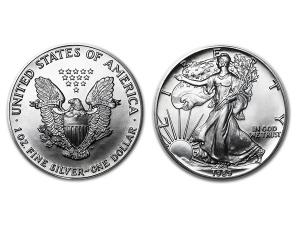 1989美國鷹揚銀幣1盎司