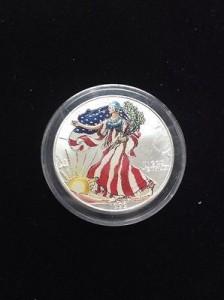 2000美國鷹揚銀幣1盎司-彩繪版
