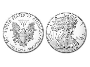 2017美國鷹揚精鑄銀幣1盎司 - 盒裝
